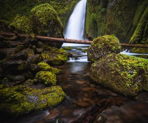 landscape, waterfalls, and moss image