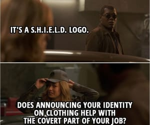 quotes, captain marvel, and nick fury image