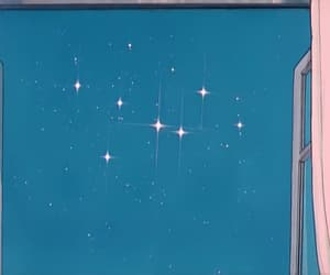 animation, stars, and blue image