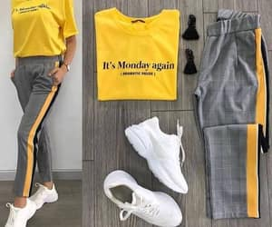 outfit, pants, and t-shirt image