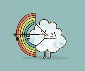 aesthetic, arrow, and cloud image