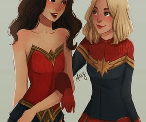 wonder woman, captain marvel, and diana prince image