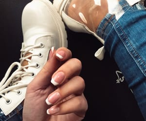french, manicure, and shoes image