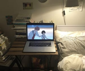 anime, bed, and books image