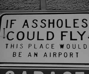 asshole, funny, and airport image