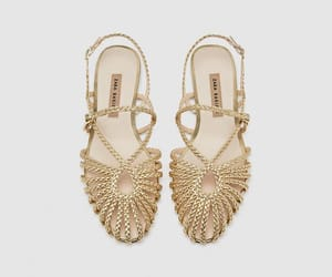 Zara and gold braid sandals image