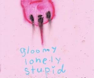 art, pink, and sad image