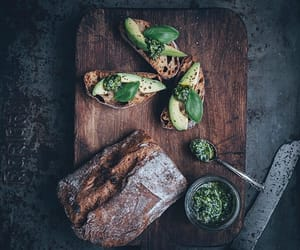 avocado, beverages, and bread image