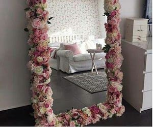 mirror, decor, and flowers image