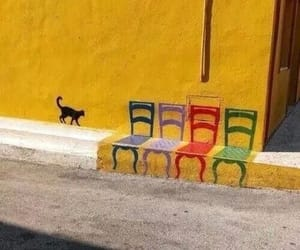 art, chair, and street image
