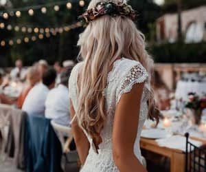 blonde, bridal, and bride image