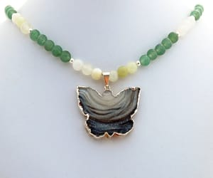 etsy, butterfly jewelry, and natural crystal image