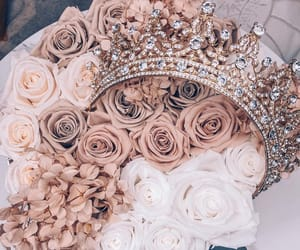 flowers, roses, and diamonds image