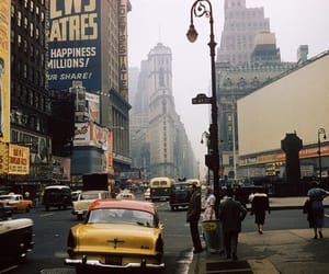 city, new york, and vintage image