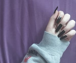 aesthetic, hoodie, and nails image