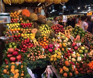 colors, tropical, and food image