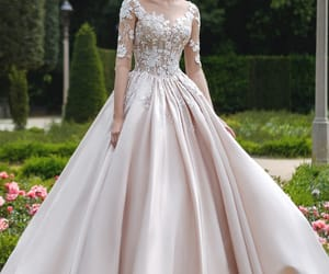 ball gown, bridal gown, and fashion image