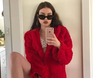 red, girl, and tumblr image
