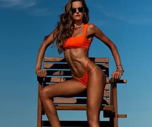 aesthetic, body, and orange image