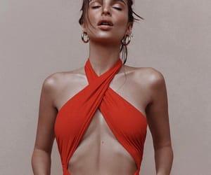 models, orange, and swimsuit image