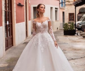 wedding, wedding dress, and ❤ image