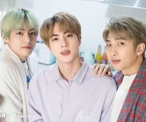 jin, taehyung, and rapmonster image