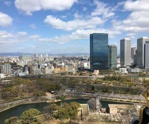 city, osaka, and japan image