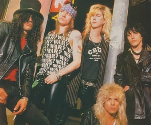 1989, axl rose, and glam rock image