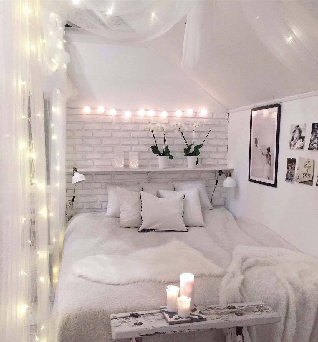 Beautiful white bedroom idea uploaded by bad_lil_thang17