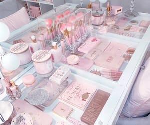 pink, makeup, and make-up image