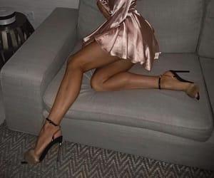 dress, heels, and cute image