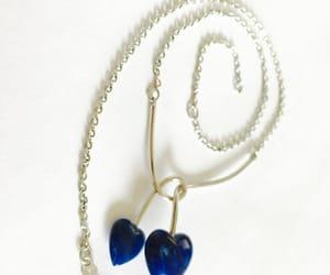 etsy, pendant, and blue hearts choker image
