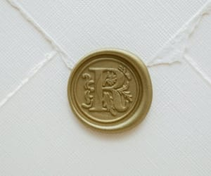 Letter, r, and wax seal image