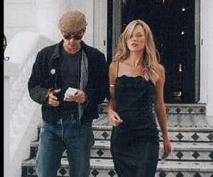 kate moss, johnny depp, and couple image