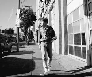aesthetic, black and white, and hoseok image