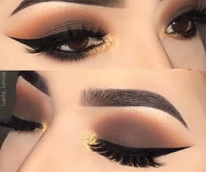beauty, eyeliner, and fashion image