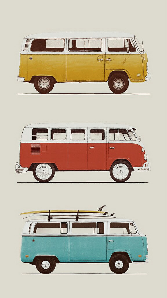 Vintage Wallpaper Kombi