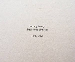 quote, shy, and song image