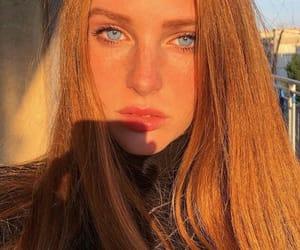 blue eyes, ginger, and girls image