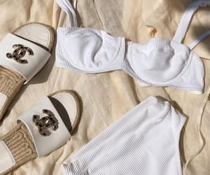 chanel, beach, and white image