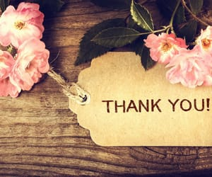 flowers, thankyou, and wooden image