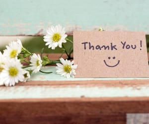 flowers, smile, and thankyou image