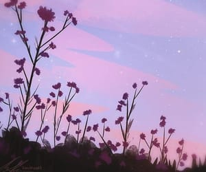 wallpaper, flowers, and sky image