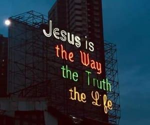 god, jesus, and lights image
