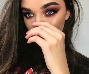 makeup, girl, and fashion image