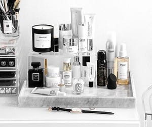marble, makeup, and organized image