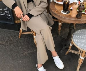 girl, outfit, and beige image