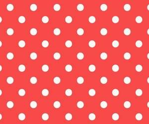 background, polka dots, and red image