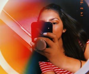 girl, retro, and phone image