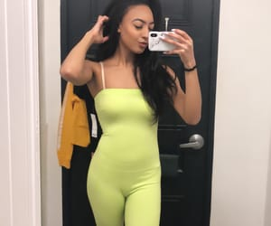 bodysuit, green, and fitting room image